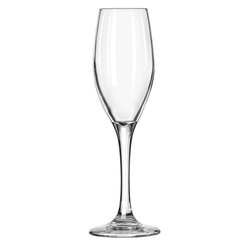 Libbey 3096 5.75 oz Perception One-Piece Flute Glass - Safedge Rim & Foot