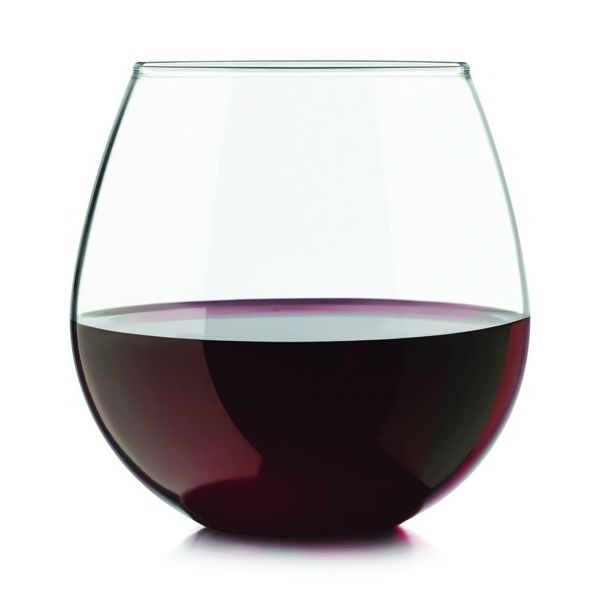 Libbey 31229 Stemless Wine Set W/ 6 Red & 6 White Glasses