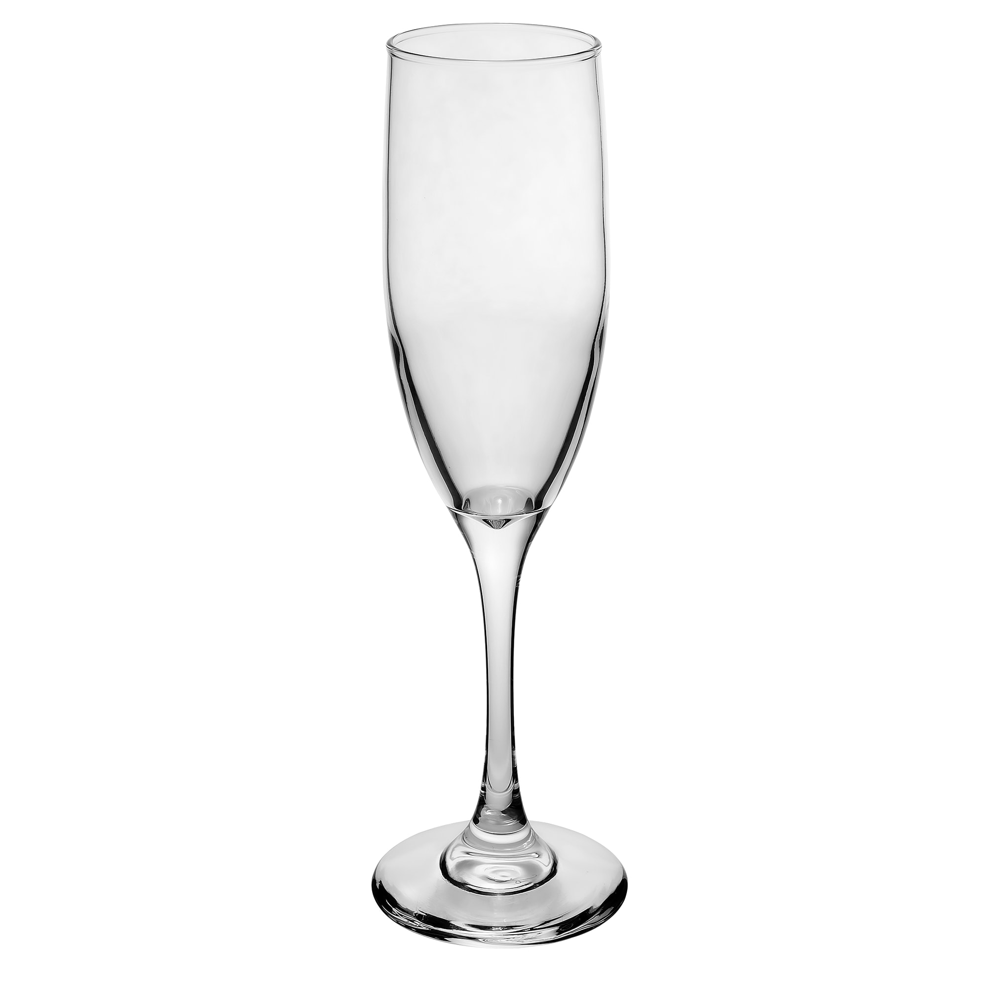 Libbey 3796 6 oz Embassy Royale Tall Flute Glass - Safedge Rim & Foot