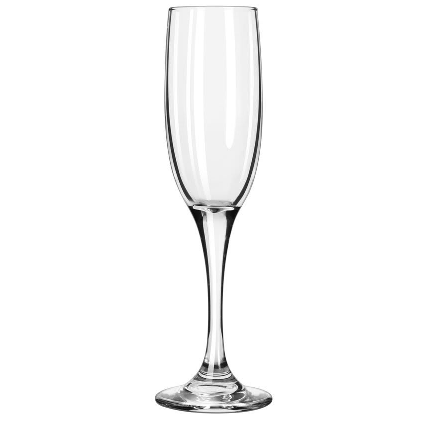 Libbey 3796/69292 6 oz Embassy Royale Tall Flute Glass - Nucleation Etching