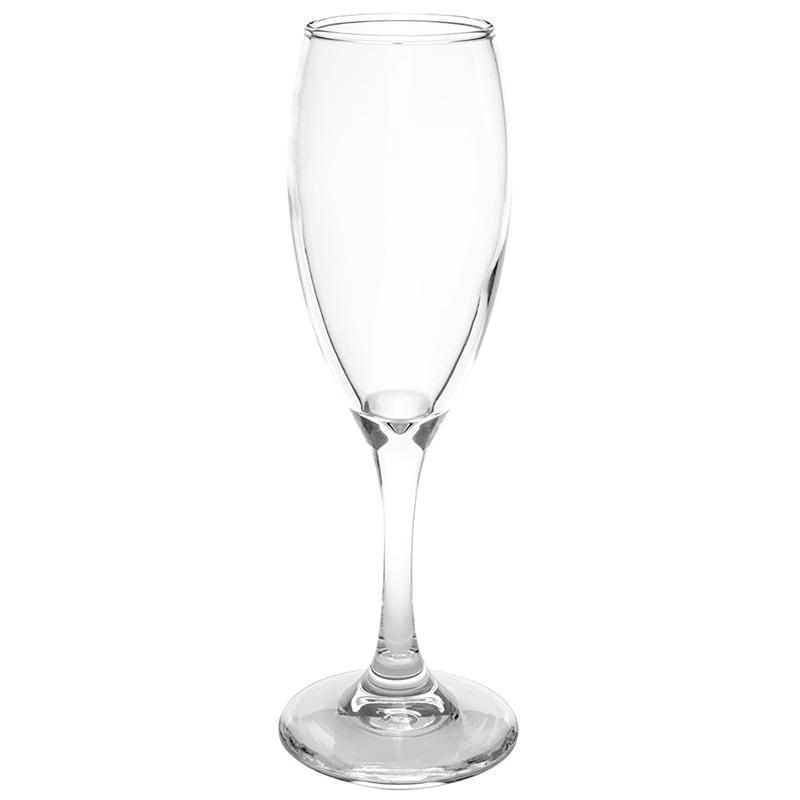 Libbey 3996 5.75-oz Teardrop Flute Glass - Safedge Rim & Foot Guarantee