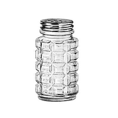 """Libbey 5045 3.125"""" Salt/Pepper Shaker w/ Metal Lid, Round"""