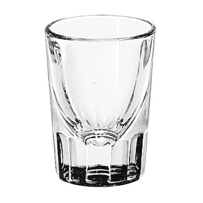 Libbey 5127 1.5 oz Fluted Whiskey Shot Glass