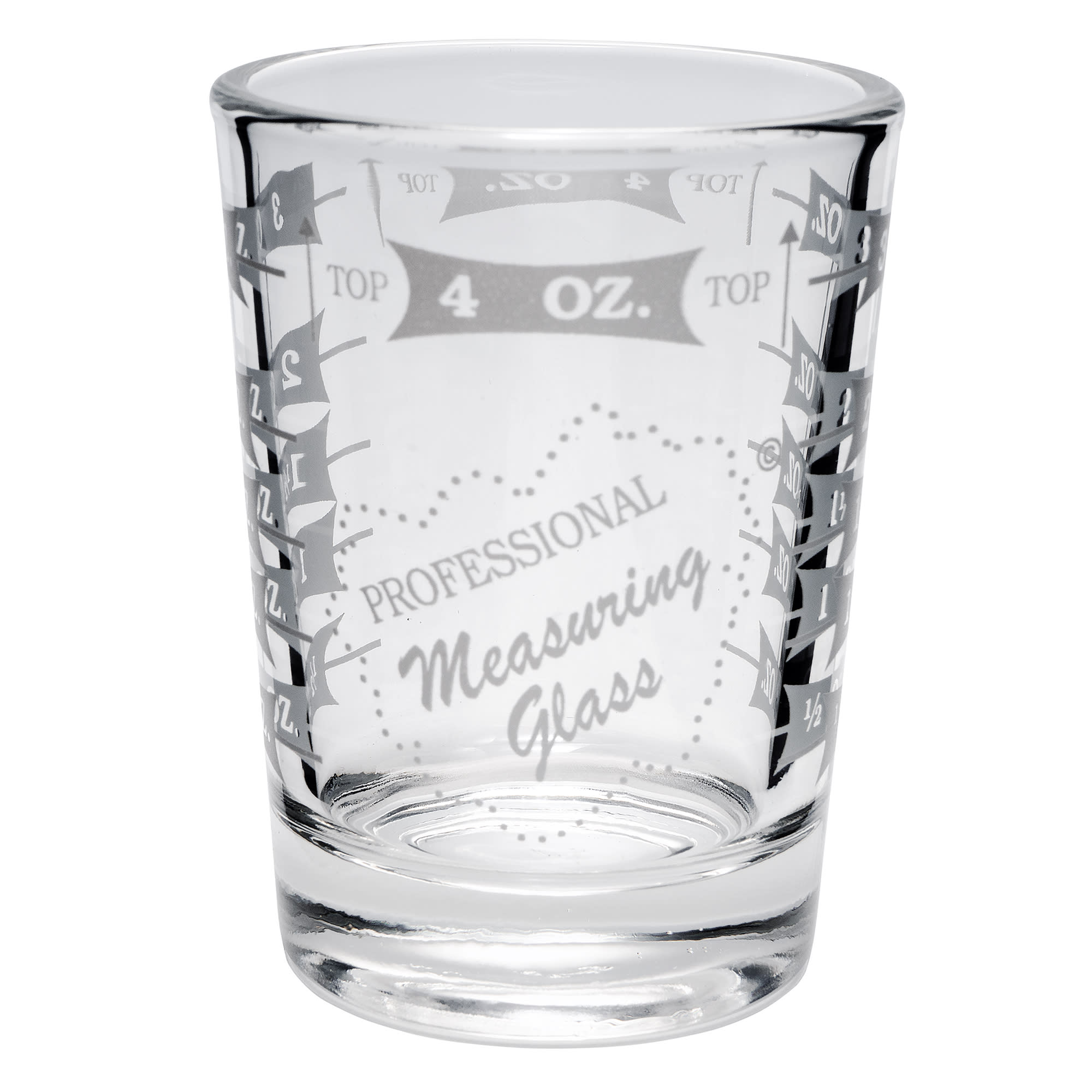 Libbey 5134/1124N 4-oz Mixing Glass - Capacity Markings on Both Sides