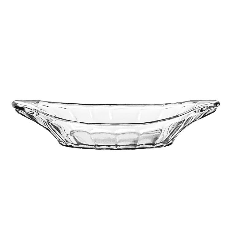 "Libbey 5317 9"" Glass Banana Split Relish Dish"