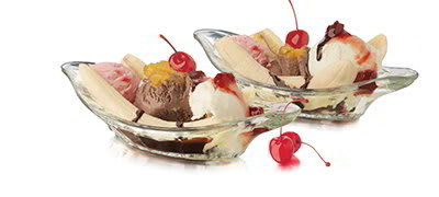 Libbey 5317S6 9-in Glass Banana Split Relish Dish