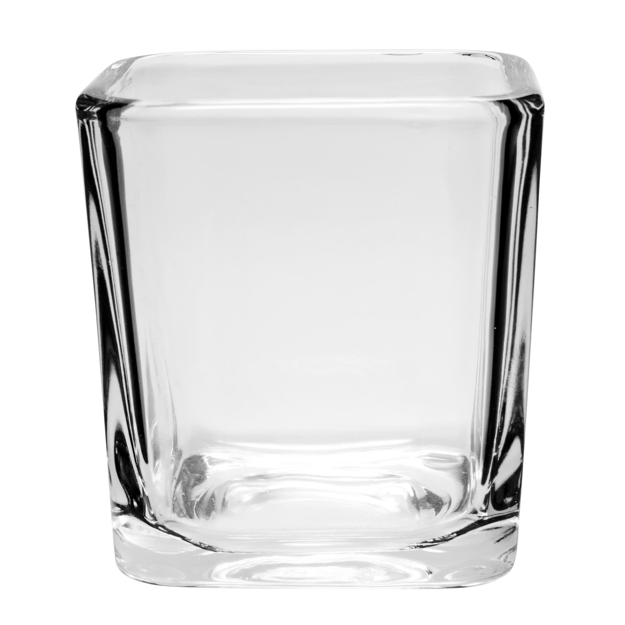 Libbey 5474 7.5 oz Clear Glass Cube Voltive Candle Holder