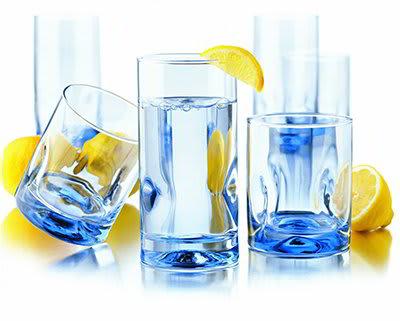 Libbey 55756F Impressions Misty Blue Glassware Set w/ (8) 16.7-oz Coolers & (8) 12-oz Tumblers