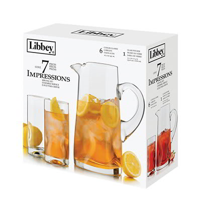 Libbey 56102 Impressions Serving Set w/ 6-Glasses & Pitcher