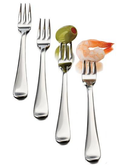 Libbey 56119 12-Piece Just Tasting Appetizer Fork Set