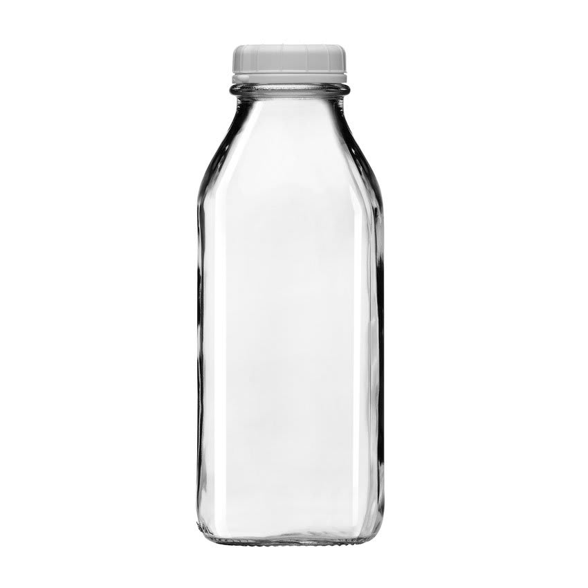 Libbey 56634 33.75 oz Milk Bottle w/ Plastic Lid
