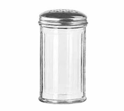 Libbey 70140 13-oz Glass Cheese Shaker - Stainless Steel Top