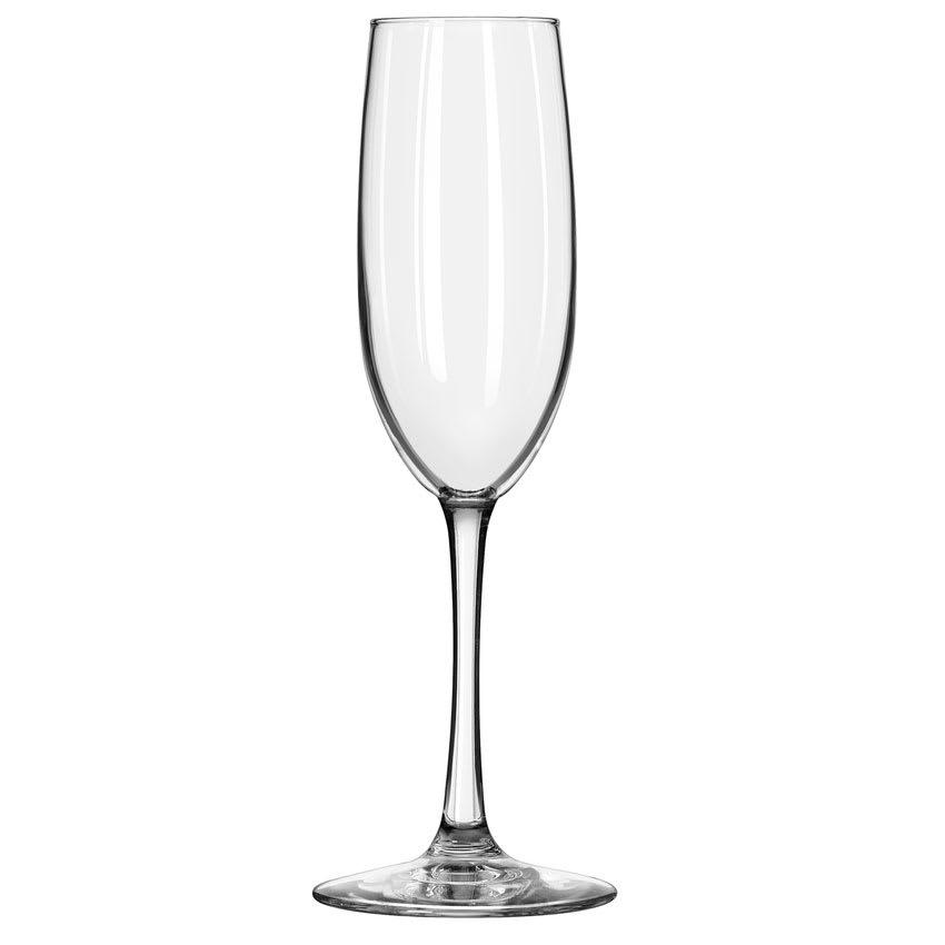 Libbey 7500/69292 8 oz Vina Fizzazz Flute Glass - Safedge Rim, Nucleation Etching