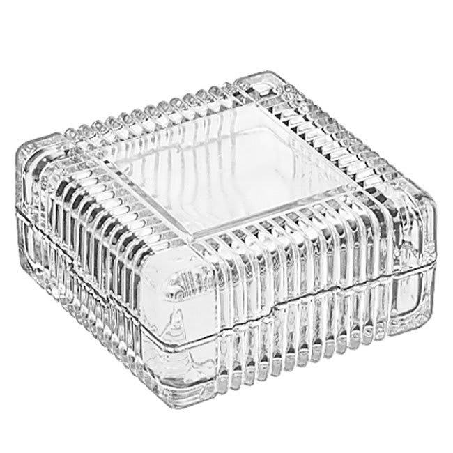 Libbey 75186 5-oz Square Glass Jewelry Box