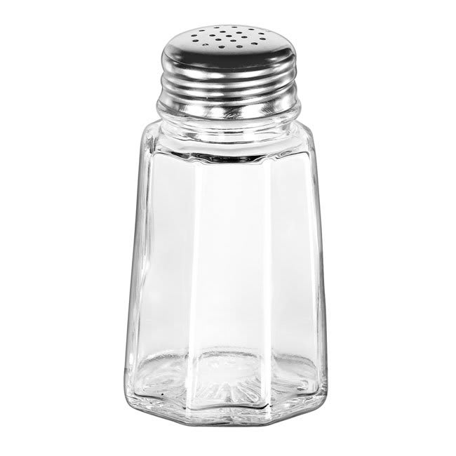 "Libbey 75351 3.5"" Salt/Pepper Shaker w/ Metal Lid, Paneled"
