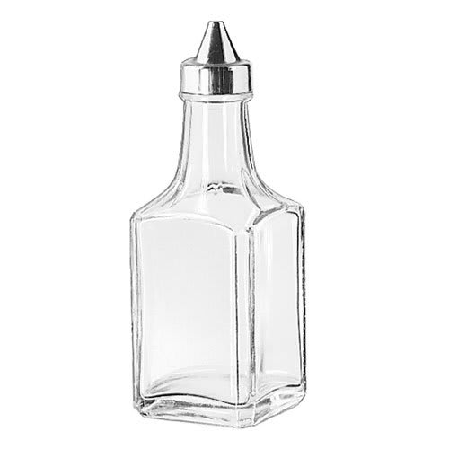 Libbey 75391 4-oz Glass Oil & Vinegar Cruet - Stainless Steel Top