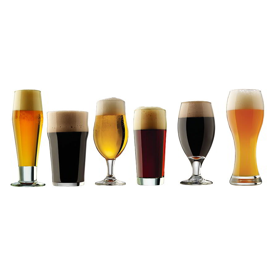 Libbey 80681 Craft Brews Set w/ Pilsner, English Pub, Belgian Ale, Craft Pub, Porter, Wheat Beer Glass