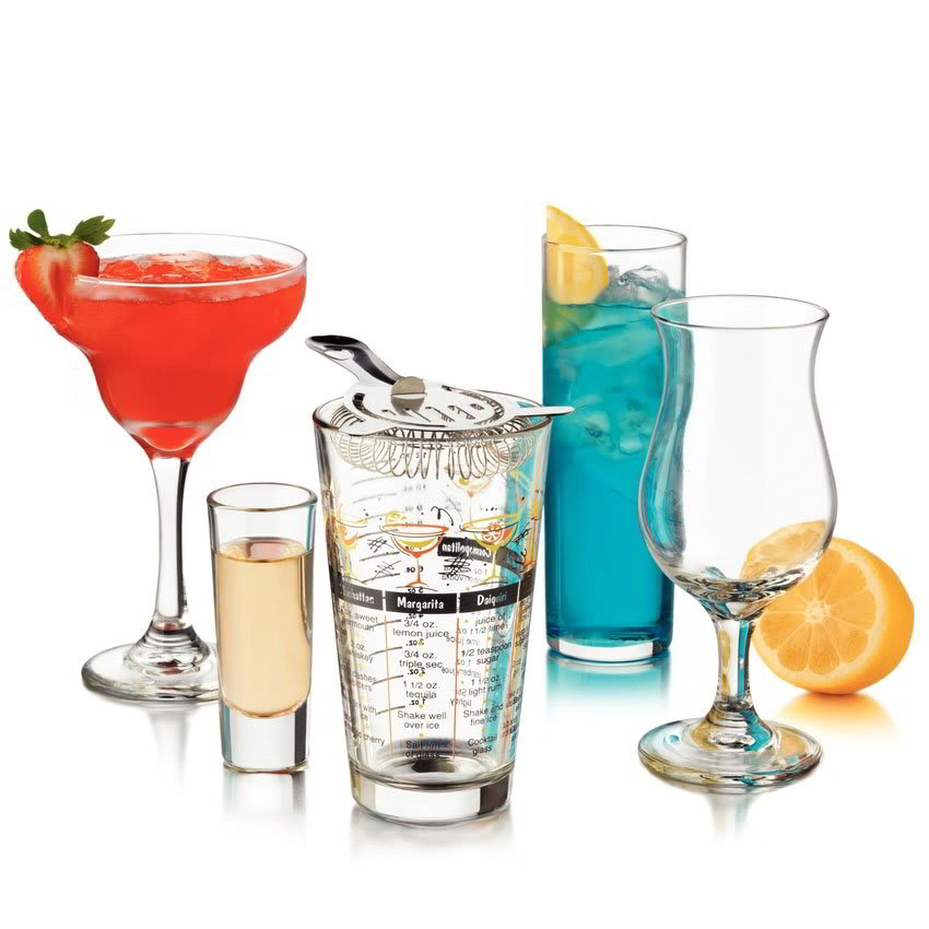 Libbey 81802 Bar in a Box Set w/ 4 Margarita, 4 Pocos, 4 Zombies & 4 Shot Glasses