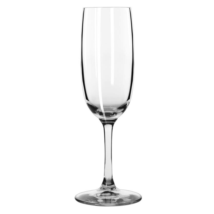 Libbey 8595SR 6 oz Bristol Valley Flute Glass - Sheer Rim