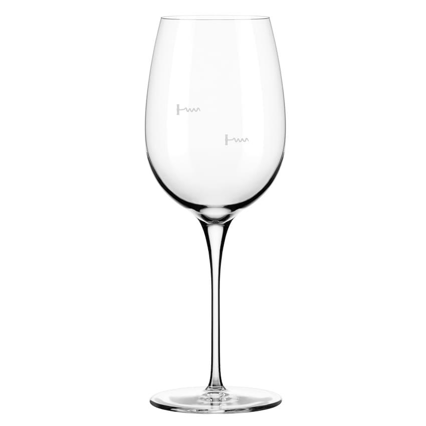 Libbey 9123/U223A 16 oz Wine Glass w/ Corkscrew Markings & Pour Control