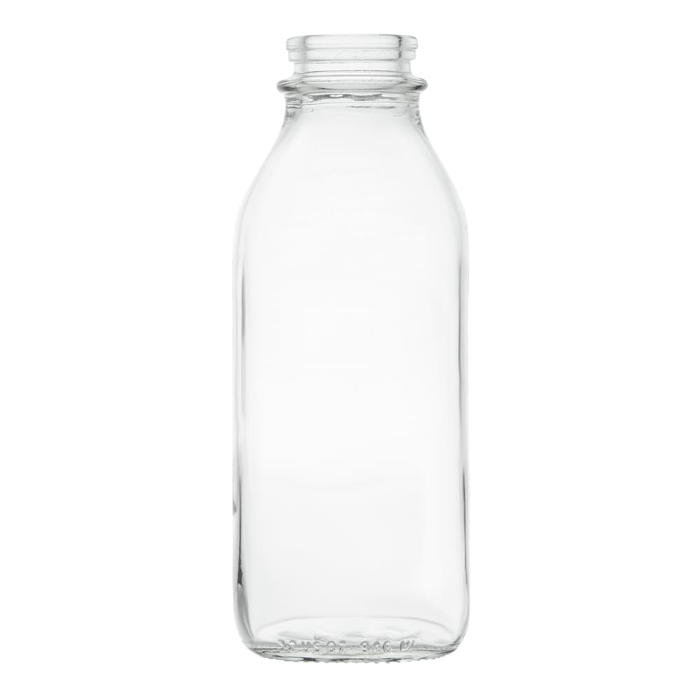 Libbey 92129 33-1/2-oz Milk Bottle - Nostalgic, Clear