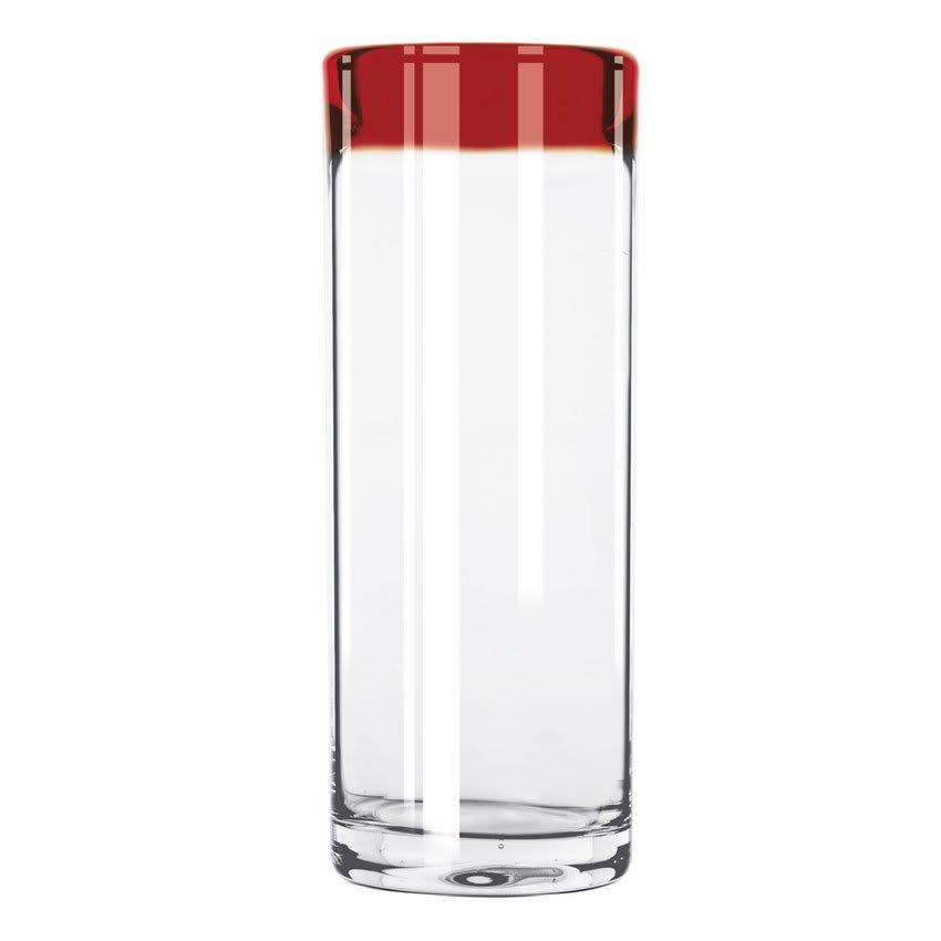 Libbey 92304R 16 oz Aruba Zombie Glass w/ Red Rim