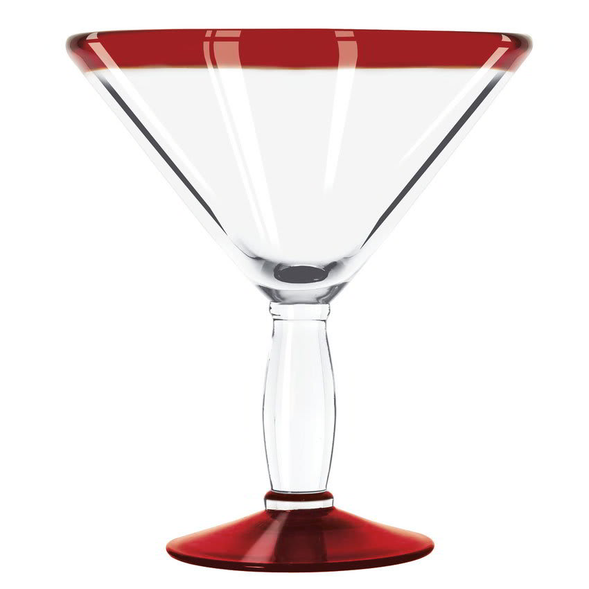 Libbey 92307R 24-oz Aruba Cocktail Glass w/ Red Rim