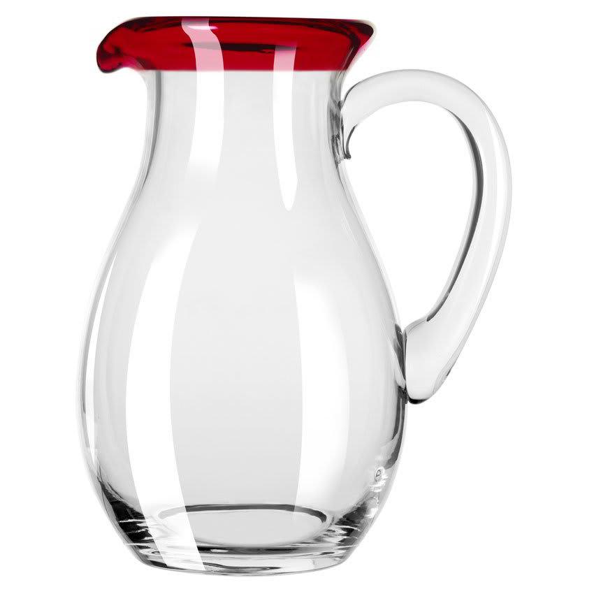 Libbey 92317R 56 oz Aruba Glass Pitcher w/ Red Rim