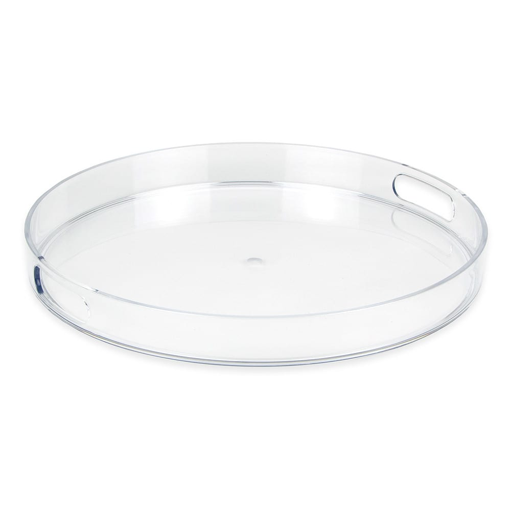 "Libbey 92393 14"" Round Serving Tray w/ Cut-Out Handles, Plastic"