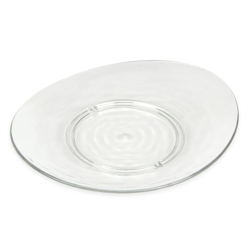 """Libbey 92398 Oval Snack Plate, 8"""" x 6.875"""" x 1"""", Plastic"""