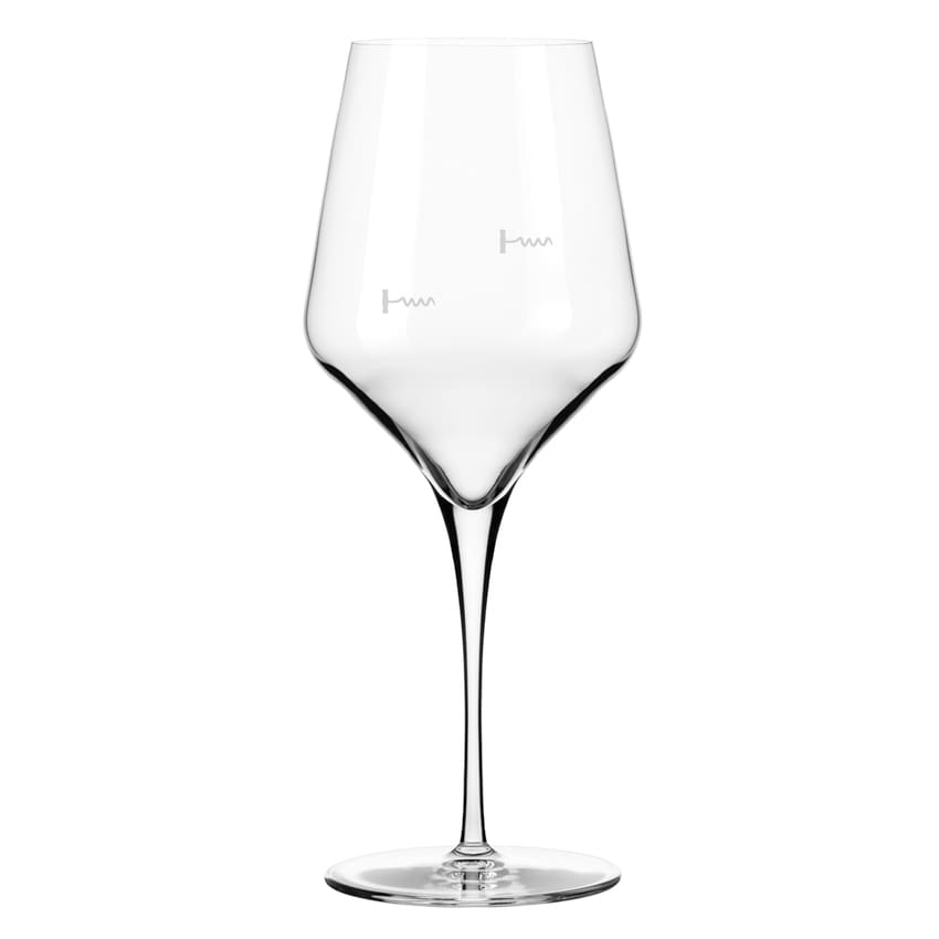 Libbey 9323/U224A 16 oz Wine Glass w/ Corkscrew Markings & Pour Control