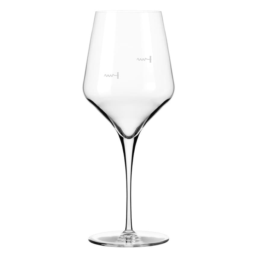 Libbey 9323/U225A 16 oz Wine Glass w/ Corkscrew Markings & Pour Control