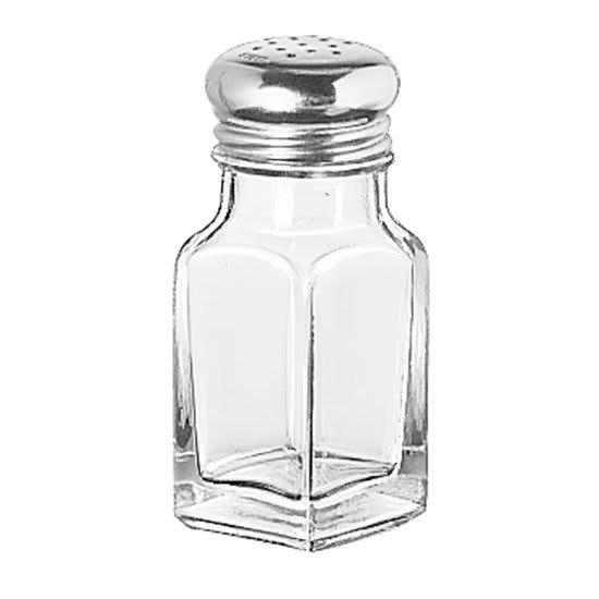 "Libbey 97052 4.125"" Shaker for Salt/Pepper - Metal Lid, Square"