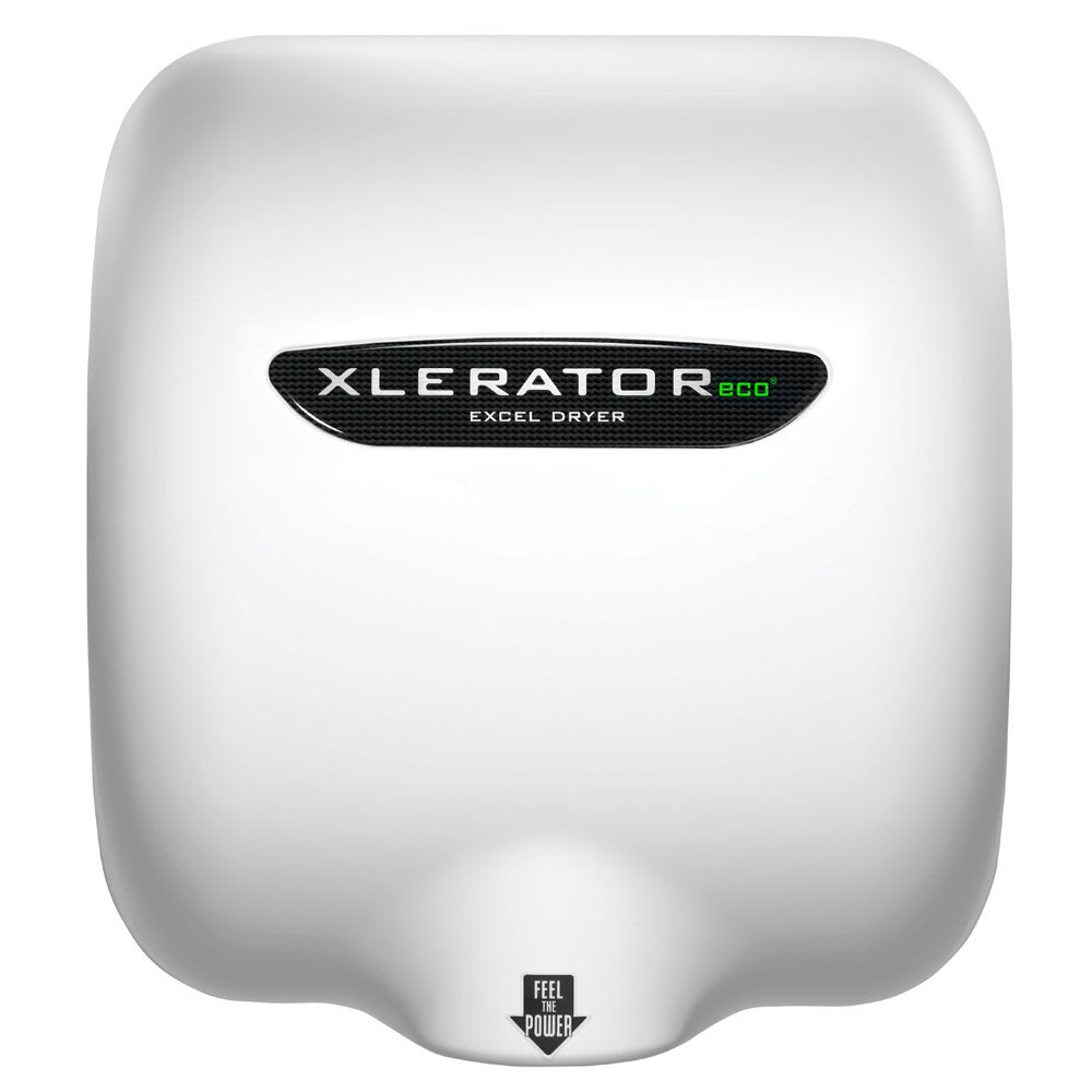 Excel Dryer XL-W-ECO-1.1N Automatic Hand Dryer w/ Noise Reduction - 10-sec Dry Time, White, 110-120v
