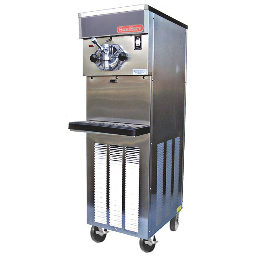 Saniserv 414-SERVE Floor Model Soft Serve/Yogurt Freezer, 1-Head, 2-HP, 208-230/60/1 V