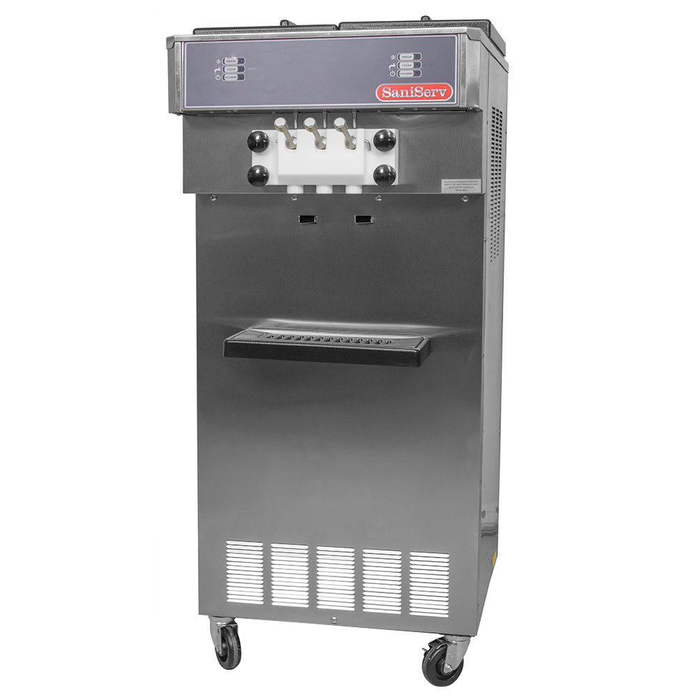 Saniserv 527-SERVE Floor Model Soft Serve/Yogurt Twist Freezer, 2 Heads, 2 HP, 208 230/60/3
