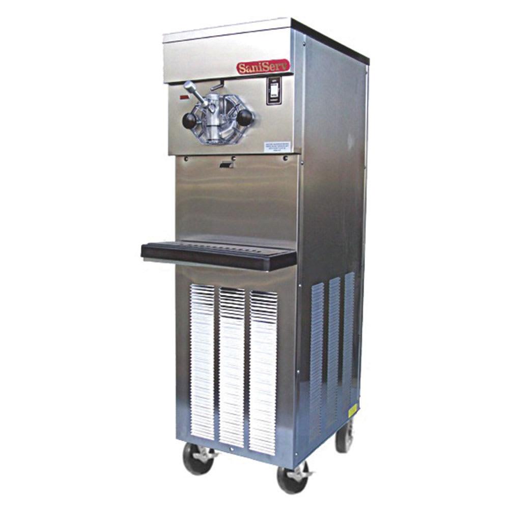Saniserv 614SAS U 4 Flavor Shake Freezer, 1 Head, 2 HP Compressor, 208 230/60/3, NSF