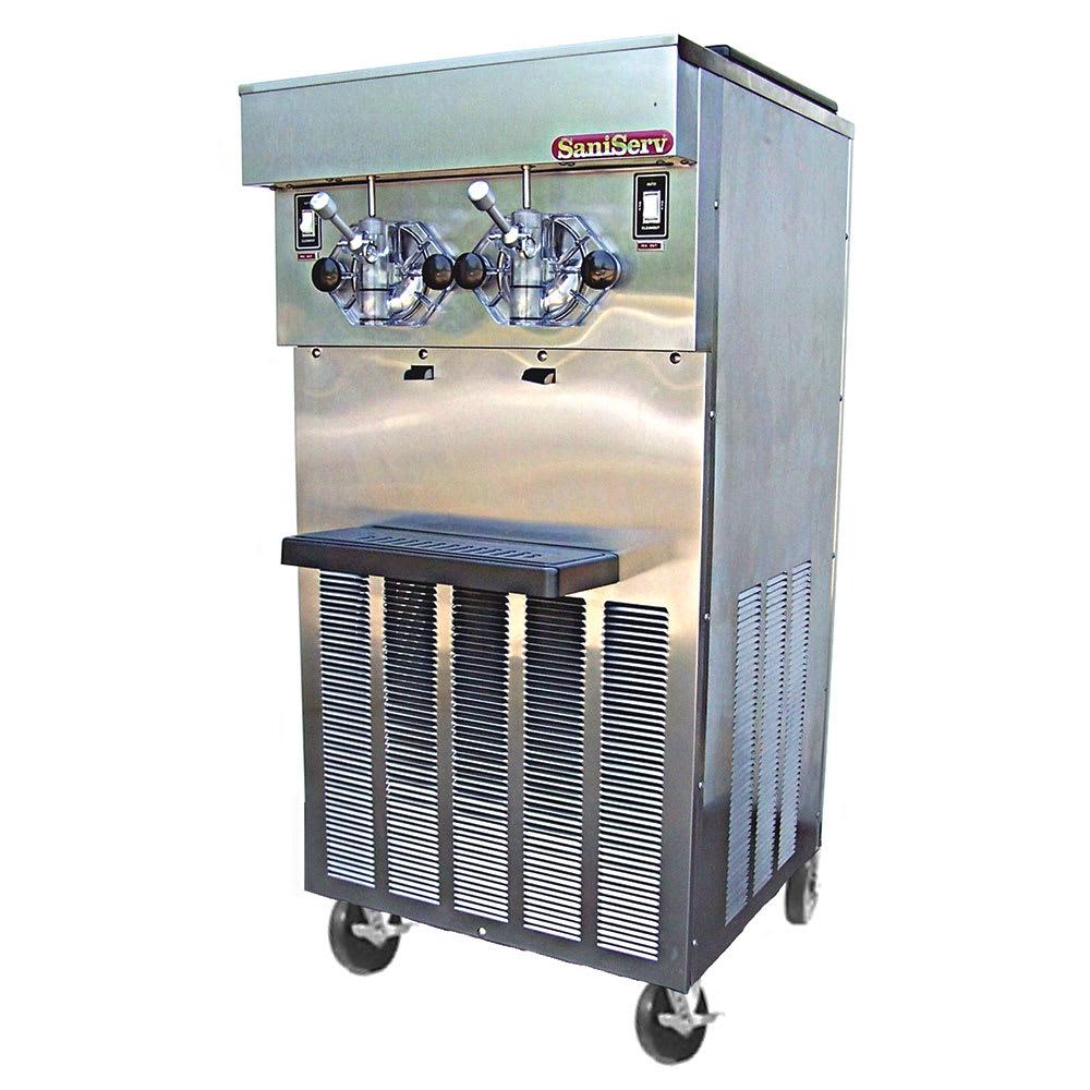 Saniserv 824-SERVE Soft Serve/Shake Combo Freezer, 2 Heads, 2 HP, 208 230/60/3 V