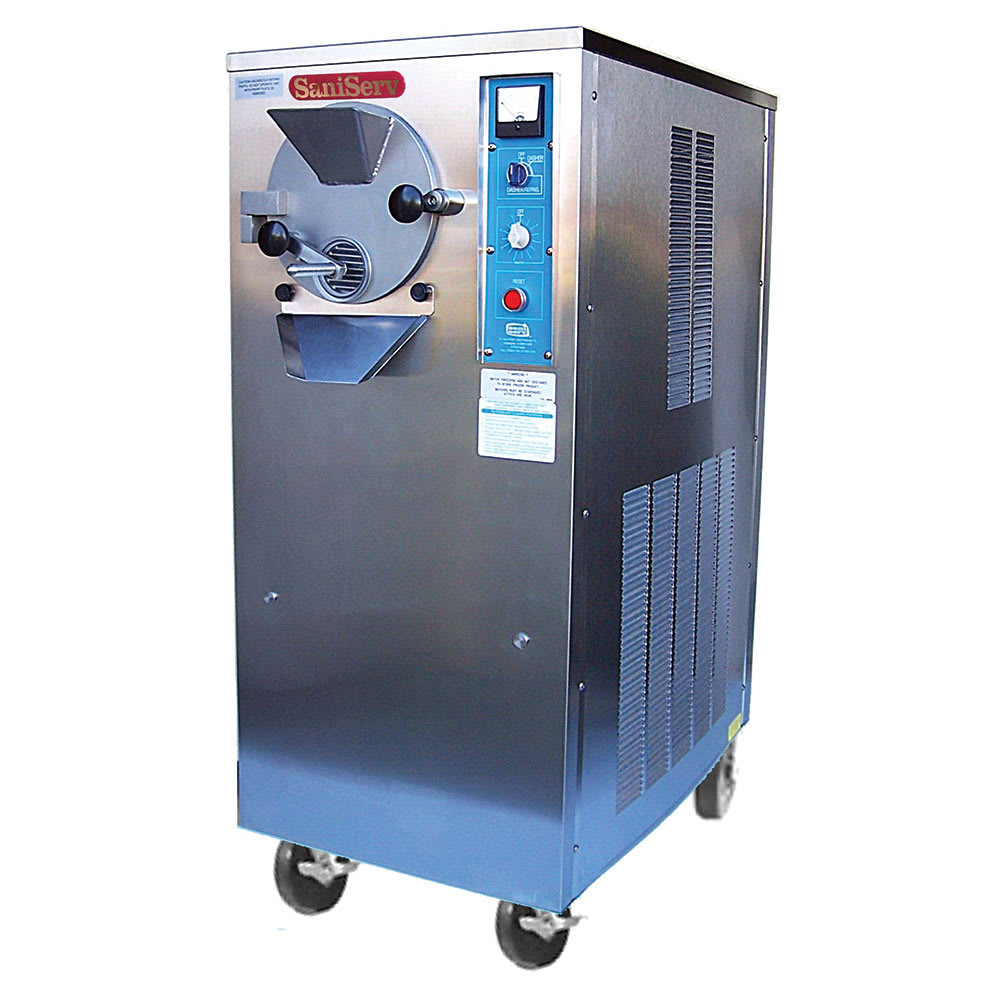 Saniserv B-10 U Floor Model Batch Freezer, 1 Head, 10 qt Barrel, 2 HP, 230 230/60/3 V