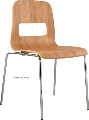 Ergocraft E-16850-CF-COFF Curve Stackable Chair w/ Sleek Chrome Frame, Stacks Up To 6 Chairs, Coffee