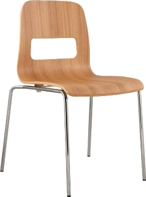 Ergocraft E-16850-CF-NAT Curve Stackable Chair w/ Sleek Chrome Frame, Stacks Up To 6 Chairs, Natural