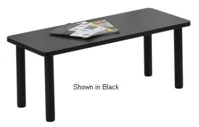 Ergocraft E-18500-TB1-NG Lakeport Reception Coffee Table w/ Durable Laminated Top, Nebula Grey