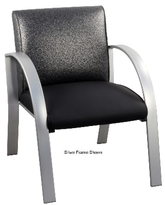 Ergocraft E-18910-BF Symphony Reception Chair w/ Black Frame & High Density Foam, 28 x 25 x 27""