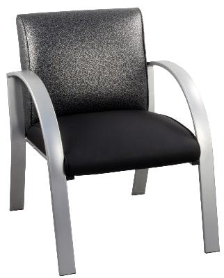 """Ergocraft E-18910-SF Symphony Reception Chair w/ Silver Frame & High Density Foam, 28 x 25 x 27"""""""