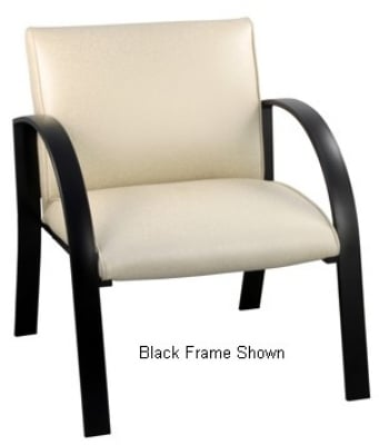 Ergocraft E-18911-SF Symphony Reception Chair w/ Silver Frame & High Density Foam, 400-lb Capacity