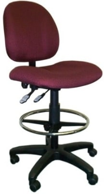 Ergocraft E-21722-ST Array Office Stool w/ Small Back & 2-Paddle Deluxe V Control, Adjustable Height
