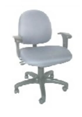 Ergocraft E-31722V Stratus Task Chair w/ Small Back & 2-Paddle Deluxe V Control, Adjustable Seat