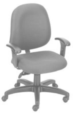 Ergocraft E-31753V Stratus Task Chair w/ Medium Back & 3-Paddle V Control, Adjustable Seat