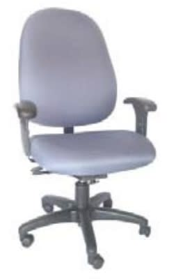 Ergocraft E-31782V Stratus Task Chair w/ High Back & 2-Paddle Deluxe V Control, Adjustable Seat