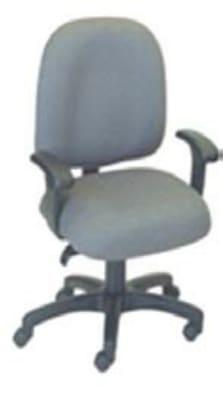 Ergocraft E-50151 Palisades Task Chair w/ Medium Back & 1-Paddle Tilt Lock Control